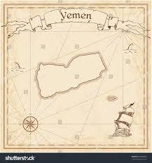 Map Of Yemen Yemen Old Treasure Map Sepia Engraved Stock Vector 396228658