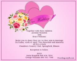 wedding invite exles informal wedding invitation wording sles wordings and messages