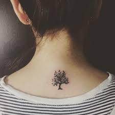 Tattoo Ideas Back Neck Best 25 Small Tree Tattoos Ideas Only On Pinterest Pine Tree