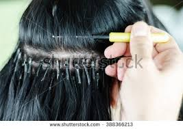 white hair extensions hair extensions on white background stock photo 388366213