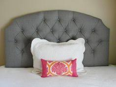 Upholstered Wall Mounted Headboards Queen Sized White Faux Silk Tufted Upholstered Headboard The
