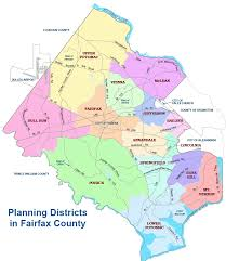 fairfax county map fairfax county comprehensive plan planning districts fairfax