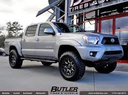 toyota tacoma with 18in black rhino wheels exclusively from