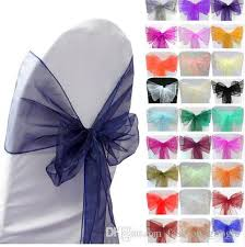 Cheap Chair Sashes Tulle Chair Sashes For Weddings Party Prom Quinceanera Event 2017