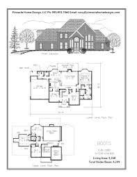 2 Story 4 Bedroom Floor Plans by Pinnacle Home Designs The Boots Floor Plan Pinnacle Home Designs