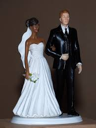 black wedding cake toppers american black white groom wedding cake