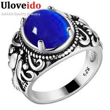 blue rings white images Buy almei dropshipping usa men ring antique jpg