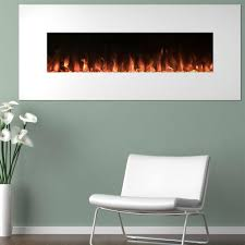 northwest 50 in electric fireplace color changing wall floor