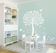 White Tree Wall Decal For Nursery White Tree Wall Sticker Cot Side Tree For Nursery Or Room Diy