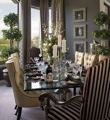 elegant dining room decorating with stripes basements traditional and room