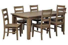 beckett 7 piece rectangular dining set w slat back side chair