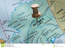 Alaska On A Map by Alaska Marked On A Map Stock Photo Image 68133127