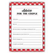 Advice For The Bride And Groom Cards Wedding Advice Cards Paperstyle