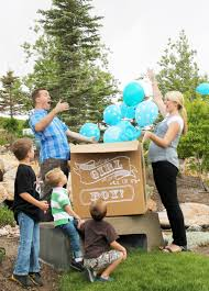 balloons in a box gender reveal gender reveal party balloon box chalkboard vinyl decal