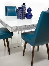 Teal Dining Table by Modern Square Dining Table In White Recycled Wood Modshop