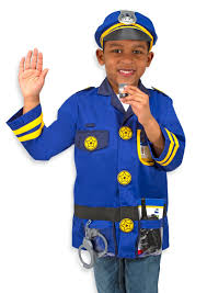 police costume for halloween amazon com melissa u0026 doug police officer role play costume set