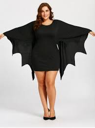 black xl bat wings plus size tunic dress rosegal com