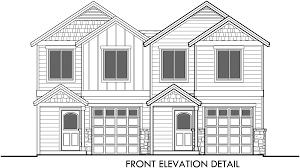 duplex plan house with garage stupendous plans narrow lot d front