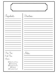 free printable recipe pages recipe binder printables by melanie gets married organize your