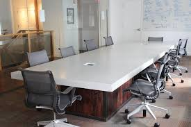 Unique Conference Tables Hand Crafted Conference Room Table By Trueform Concrete