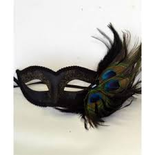 peacock masquerade mask buy half venetian mask with peacock feathers online yacanna