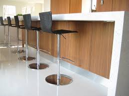 Modern Kitchen White Countertops Walnut Cabinets - Modern kitchen white cabinets