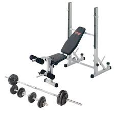 Collapsible Weight Bench York B540 Folding Weight Bench And Viavito 50kg Cast Iron Weight Set