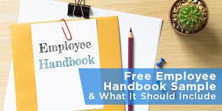free employee handbook sample u0026 what it should include