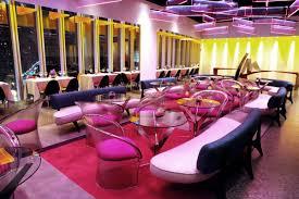 elegant modern restaurant design with lavender theme interior