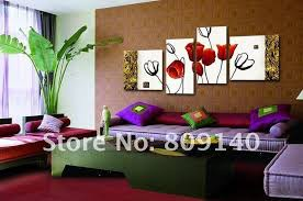 Painting For Living Room by Painting Oil Painting Red Tulip Free Shipping Oil Painting On