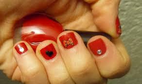 valentine nail design milani rhinestones with hello kitty