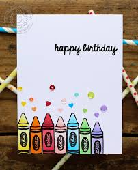 sunny studio time rainbow crayon birthday card with vanessa