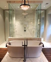 Free Standing Contemporary Bathtub Bathtub In Front Of Shower Contemporary Bathroom Chad James