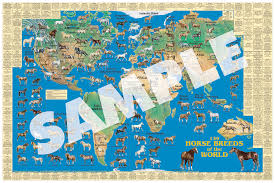 Map Of The World Poster by Horse Map Dog Poster