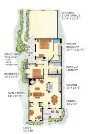 narrow cottage plans floor plan narrow lot house plans with courtyard for a floor plan