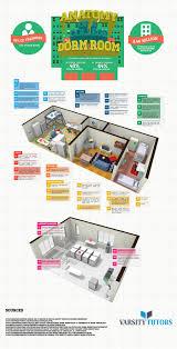 college dorm floor plans anatomy of a college dorm room infographic