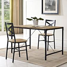 walker edison furniture company angle iron barnwood dining table