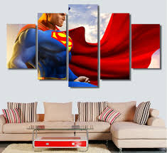 Superman Bedroom Decor by Hd 5 Piece Canvas Art Superman Wall Art Decoration For Home Living