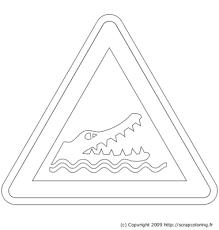Coloriage Panneau Crocodile