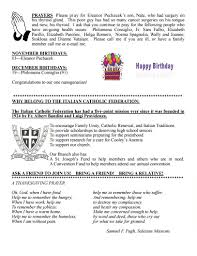 catholic thanksgiving prayer newsletter