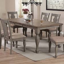 coaster riverbend dining table wheat antique grey 106301 at