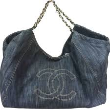 Chanel denim super large travel shoulder bag lar vintage