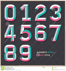 Colour Style by Alphabet Numbers Vintage Colour Style Stock Vector Image 38943768