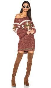 Free Northern Lights Sweater In Free Northern Lights Sweater Mini Dress In Combo Revolve