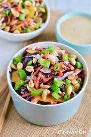 asian slaw with ginger peanut dressing gluten free dairy free