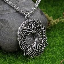 aliexpress com buy celtics tree pendant necklace norse