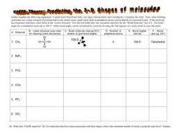 shapes of molecules worksheet worksheets releaseboard free