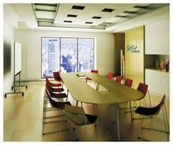 Modern Conference Room Design Modern Office Meeting Room Design With Oval Table Red Chairs