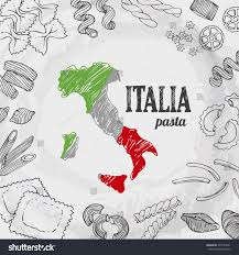 Blank Map Of Italy by Italia Food Set Vector Background Hand Stock Vector 359793641