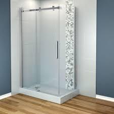 maax halo 48 in x 31 7 8 in frameless corner shower enclosure in frameless corner shower